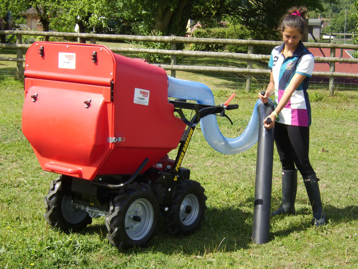 Paddock vacuums for sale, UK delivery - poo pickers, easy manure collection, cleaning manure from fields